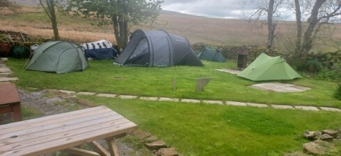 back garden camp